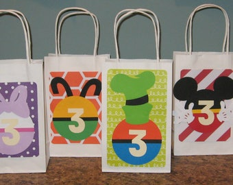 Mickey Mouse Clubhouse Gift Bags - Set of 12