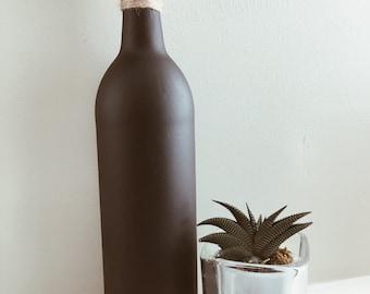 Matte Black Bottle Decor | Minimalist Knick Knacks | Modern Decor