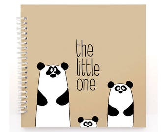 PANDAS book blue cover, Modern Baby Book, Baby Memory Book, Baby Shower Gift, Baby Journal, Baby Shower, Baby Album, Keepsake, Gift