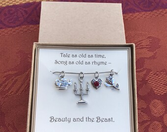 Beauty and the Beast Necklace - C239 - Beauty and the Beast Jewelry - Beauty and the Beast Birthday - Beauty and the Beast Wedding Gift