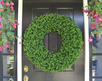 Wedding Boxwood, Church Decoration, Outdoor Wedding Wreaths, Extra Large Boxwood Wreath, Ceremony Decor, Outdoor Spring Decor  26