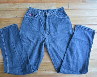 Vintage 70s 80s High Rise Jeans 14 Long by Normandee Rose