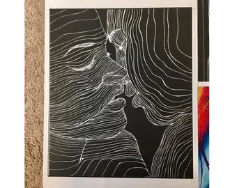 Lovers Print of original piece by Madeline Sonnendecker