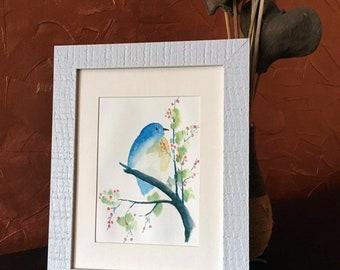 Interior watercolor «Bird»