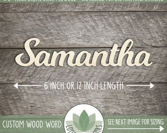 Custom Wood Word Sign, Wooden Name, Custom Laser Cut Wood Name, Nursery Decor, DIY Laser Cut Wood Shapes, Cutom Name Wood Word Cutout