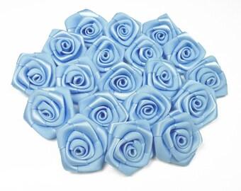 10 pearls, pink sky blue satin 311 3 cm in diameter