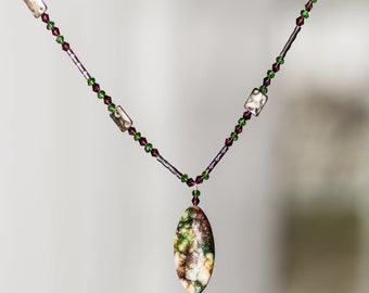 Crystal one of a kind long necklace