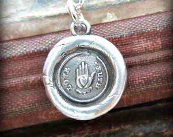 Love Truth Wax Seal Necklace - Sincerity, Friendship & Love - V1265