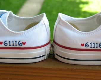 Wedding Converse, Wedding Chucks, Chuck Taylors, Custom Converse, Personalized Converse