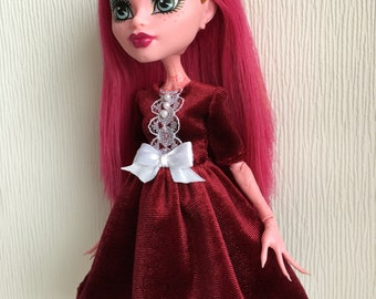Velour Dress for Monster High Doll