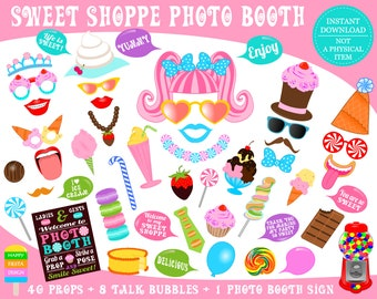 PRINTABLE Sweet Shoppe Photo Booth Props-Sweet Shoppe Props-Sweet Shoppe Party Props-Cupcake, Ice Cream Props-Candy Props-Instant Download