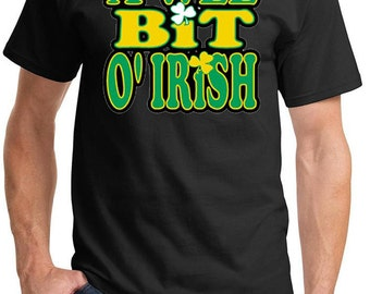 St Patrick's Day Shirt A Wee Bit Irish Men's Tee T-Shirt-A10000-PC61