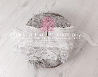 Newborn Photography Basket Digital Backdrop