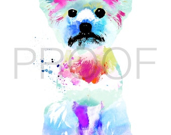 Yorkshire Terrier || Yorkie || Bailey the Yorkie || Yorkie Art || Dog Art || Watercolor Dog Art || Watercolor Dog || Yorkshire Terrier Art