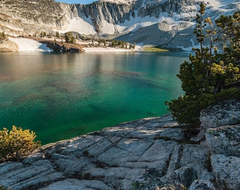 Eagle Cap Wilderness:  Green Waters of Glacier Lake