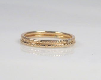 Skinny tree bark ring, textured ring, thin gold ring, thin gold stacking rings