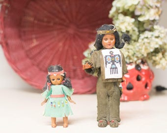 Indian Dolls, Beaded Accents