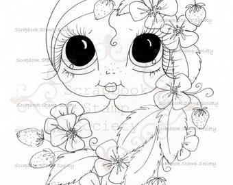 INSTANT DOWNLOAD Digital Digi Stamps Big Eye Big Head Dolls Digi  My Besties Garden Besties IMG733 By Sherri Baldy