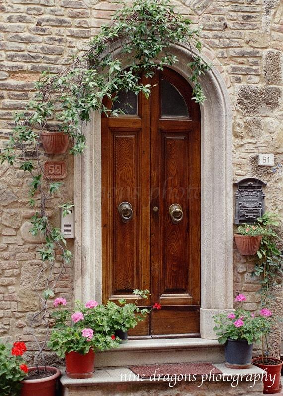 & Italian Doors PrintEuropean PhotographyItalian Wall