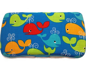 Custom Boutique Style Travel Wipe Case - Whales