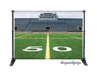 Football Field - Photography Backdrop
