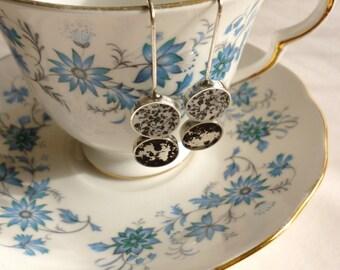Double tea earrings