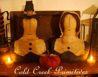 Primitive Pilgrim Set Shelf Sitters Thanksgiving