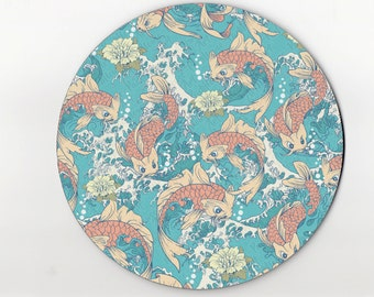 mouse pad / mousepad / koi fish mouse pad / koi fish mousepad