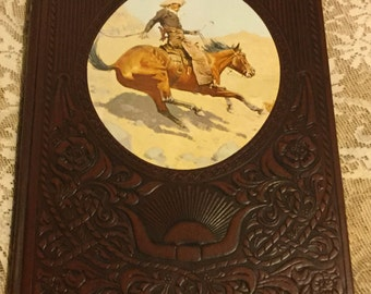 The Cowboy - Vintage Time Life Books, 1974, Old West Series, Vintage Printing  Leatherette Binding, Historical