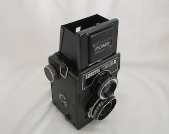 Lubitel Camera with lens cap and case • vintage