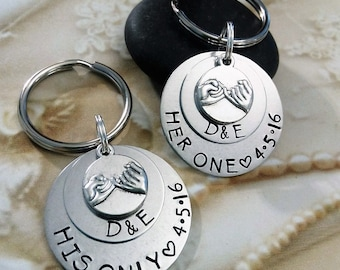 His and her keychain | Etsy
