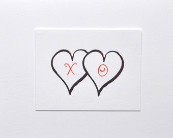 X O Heart Note Cards