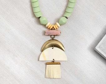 statement necklace // Pendant necklace // boho necklace // boho fashion // Tiger Lily Tassel Necklace