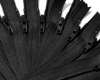 WHOLESALE 200 BLACK ykk Zippers  number 3 Nylon Coil Skirt   Color 580 Closed End~ZipperStop Wholesale Distributor YKK® ~Pick Ür Length