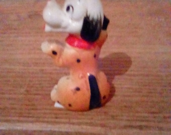 Vintage 1950s Adorable Begging Puppy, Ceramic puppy, Collectable figurine, Brown and white puppy