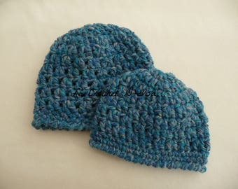 DUO MOTHER DAUGHTER CROCHET BEANIE HAT AS MOM