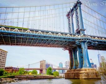 Manhattan Bridge Brooklyn Bridge Park  New York City