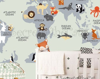 Items similar to nursery wall decal wall decal nursery world map nursery wall decal wall decal nursery world map decal map decal children gumiabroncs Images