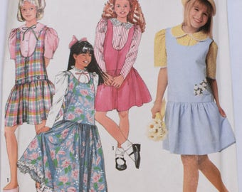 Vintage 1990 Simplicity Pattern 9726 Girls (unused)