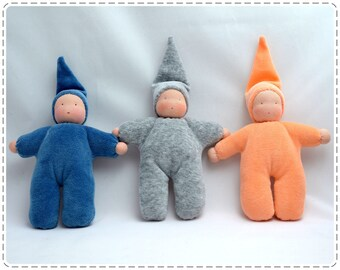 Pocket doll. Bunting baby. Waldorf doll, waldorf  gnome, waldorf toys. Gnome kids.