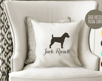 Personalized Jack Russell Pillow Cover