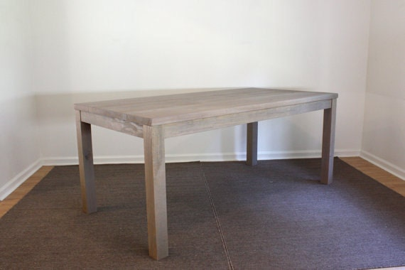 Beautiful Gray Parsons Dining Table 72x30 Reclaimed Wood
