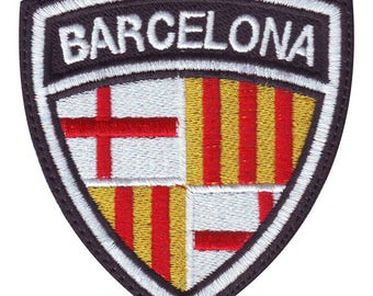 Barcelona Spain Crest Flag Embroidered Patch