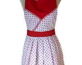 Apron Bouton de rose – handmade vintage style apron