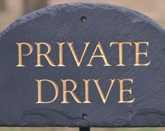 STONE PRIVATE DRIVE Sign / Property / Plaque