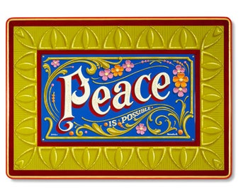Peace is Possible - Poster - Sign painting, fileteado