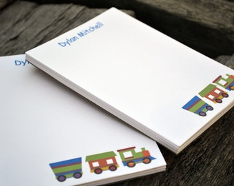 Personalized Notepads / Train Notepads /Personalized Notebook / Personalized Train Note Pads/ Set of Notepads /  Set of 2 Train Design