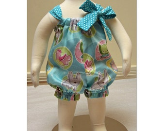 Baby romper pdf sewing pattern for baby girls size 3 months to 4 years. PRETTY BABY ROMPER easy to make romper pdf sewing pattern