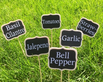 Garden Labels / Custom Garden Labels / Herb Labels / Vegetable Markers / Vegetable Garden Labels / Garden Stakes / Garden Markers / labels
