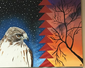 Red tailed hawk astral projection